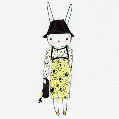 Kate Moss, Fifi Lapin és a húsvéti nyuszis divat - illusztracio, ujdonsagok -