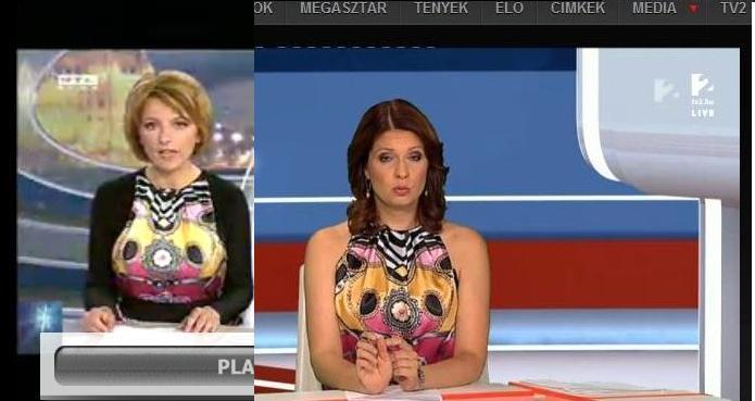 Két tévécsatorna, két híradós, ugyanaz a ruha - televizios-kritika, jelmezeksztarok -