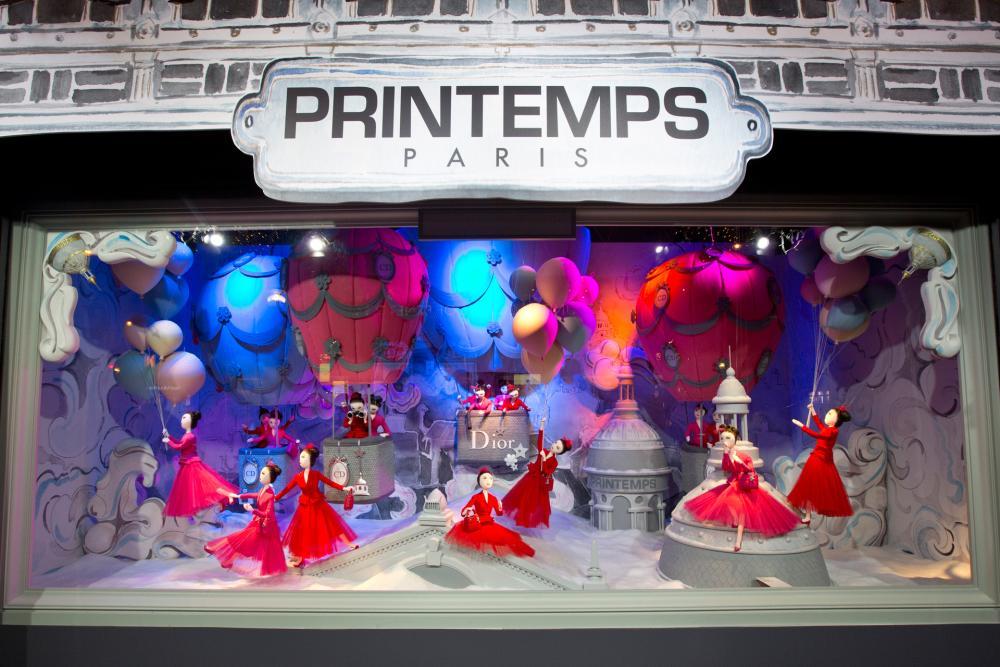 Dior karácsony a Printempsnél - kirakat-2, karacsony-2 -