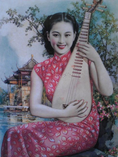 Kínai pin-up girlök a 20-as, 30-as évekből - minden-mas, illusztracio -