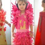 Papírruhákkal csinál divatot a négy éves kislány
