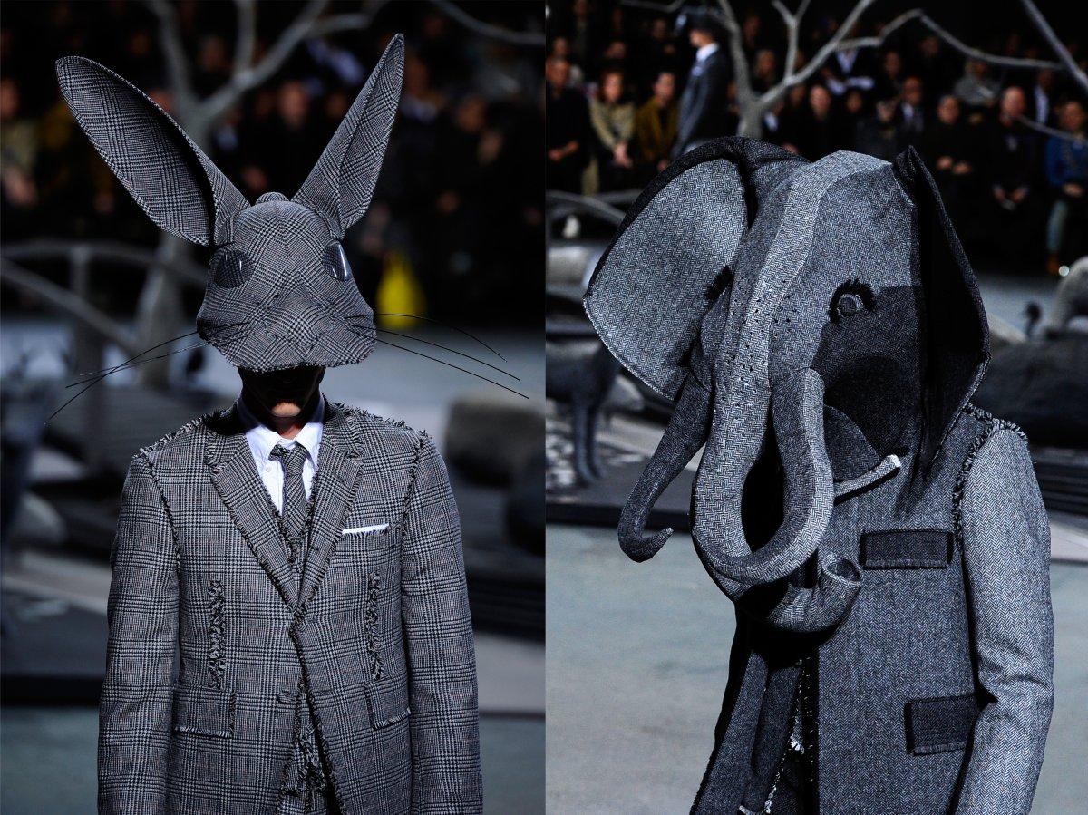 Stephen Jones állati kalapjai Thom Browne kollekciójában - trendek-2, oszi-es-teli-divat, minden-mas -