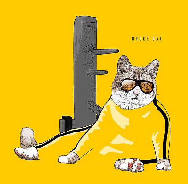 Ikonikus macskák bevonulnak a művészetbe - minden-mas, illusztracio, artdesign -