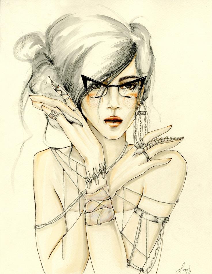 Langley Fox: híres dédunoka, illusztrátor és modell - minden-mas, illusztracio, artdesign -
