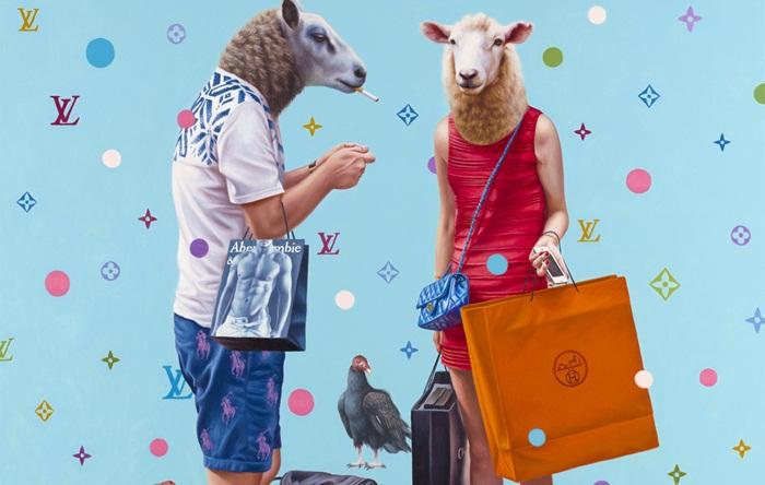 Fricska a fogyasztói társadalomnak, és a márkamániásoknak - minden-mas, illusztracio, artdesign -