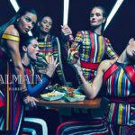 Szupermodell dömping a Balmain új kampányában
