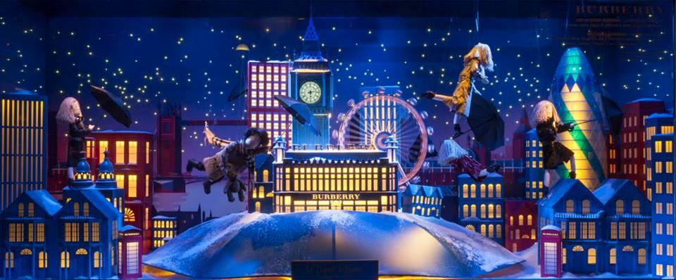 Burberryvel utaznak a Printemps karácsonyi manói - minden-mas, kirakat-2, karacsony-2, artdesign -