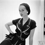 Kézzel festett Hermés ruhák az ötvenes évekből