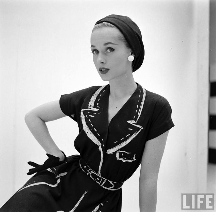 Kézzel festett Hermés ruhák az ötvenes évekből - minden-mas, divat-tortenetek, ujdonsagok -