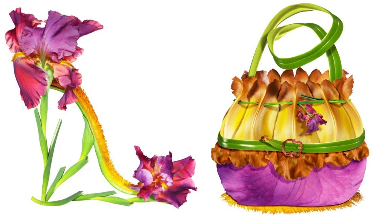 Virágokból kreált táskák és cipők - minden-mas, illusztracio, artdesign -