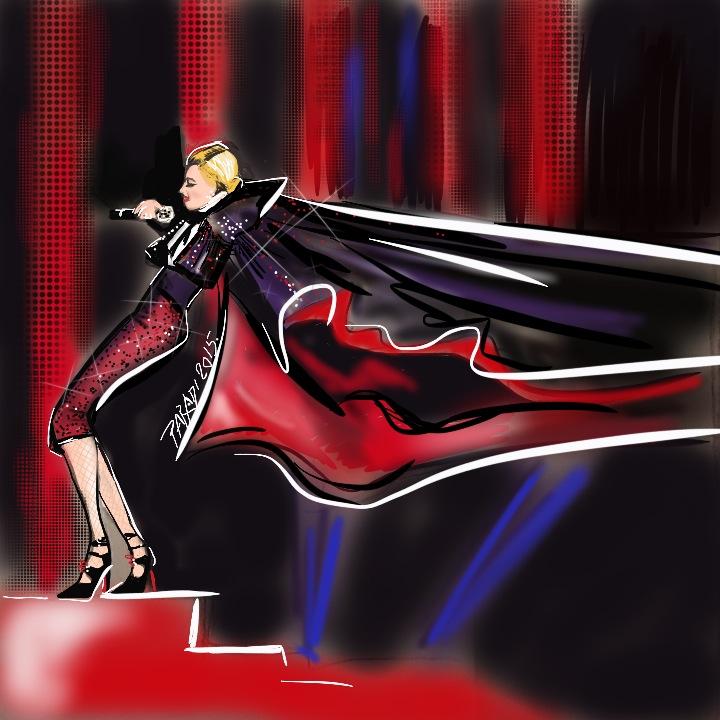 Madonna a Brit Awards-on - illusztráció - minden-mas, illusztracio, artdesign -