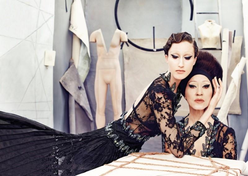Art of Fashion - Anna és Pat Cleveland a Neiman Marcus kampányában - minden-mas, kampanyok, ujdonsagok -