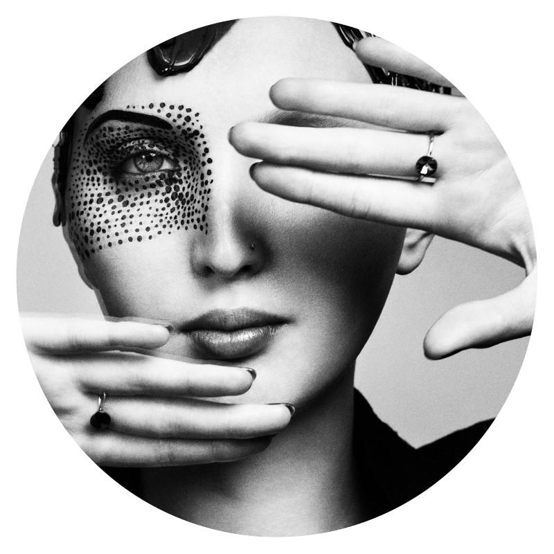 Fornasetti design női arc tányér