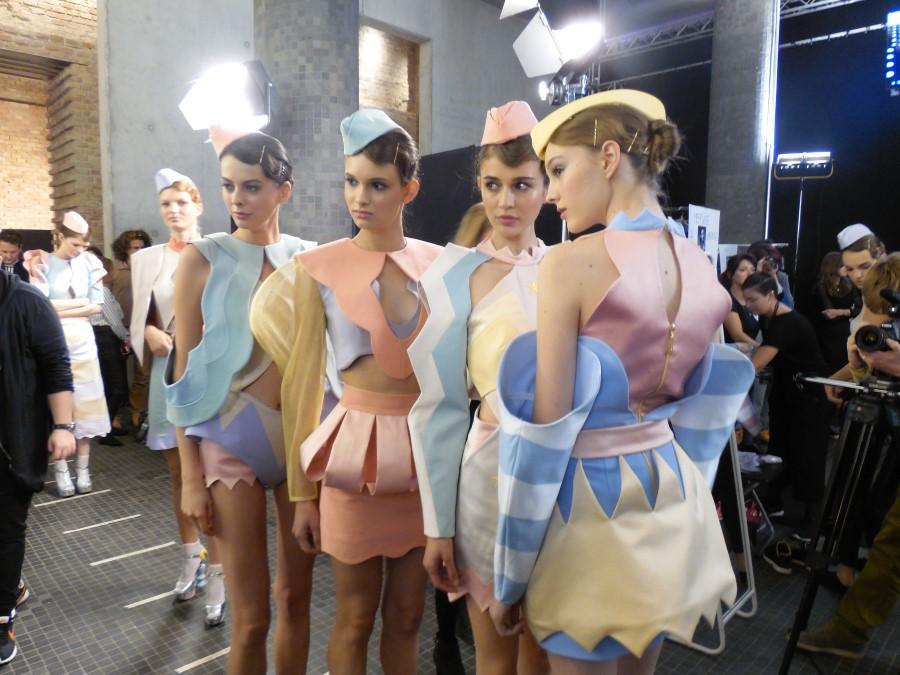 Ana ljubinkovic pasztell kollekció London Fashion week Budapest pasztell ruhák