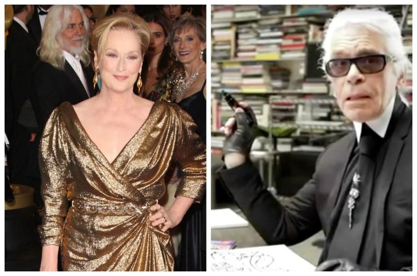 Meryl Streep Oscar ruha Lagerfeld
