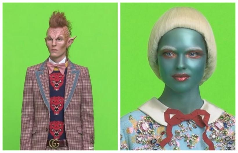 Gucci alien vicces bolond kampány