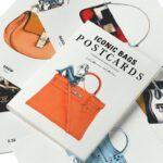 Ikonikus táskák képeslap sorozaton