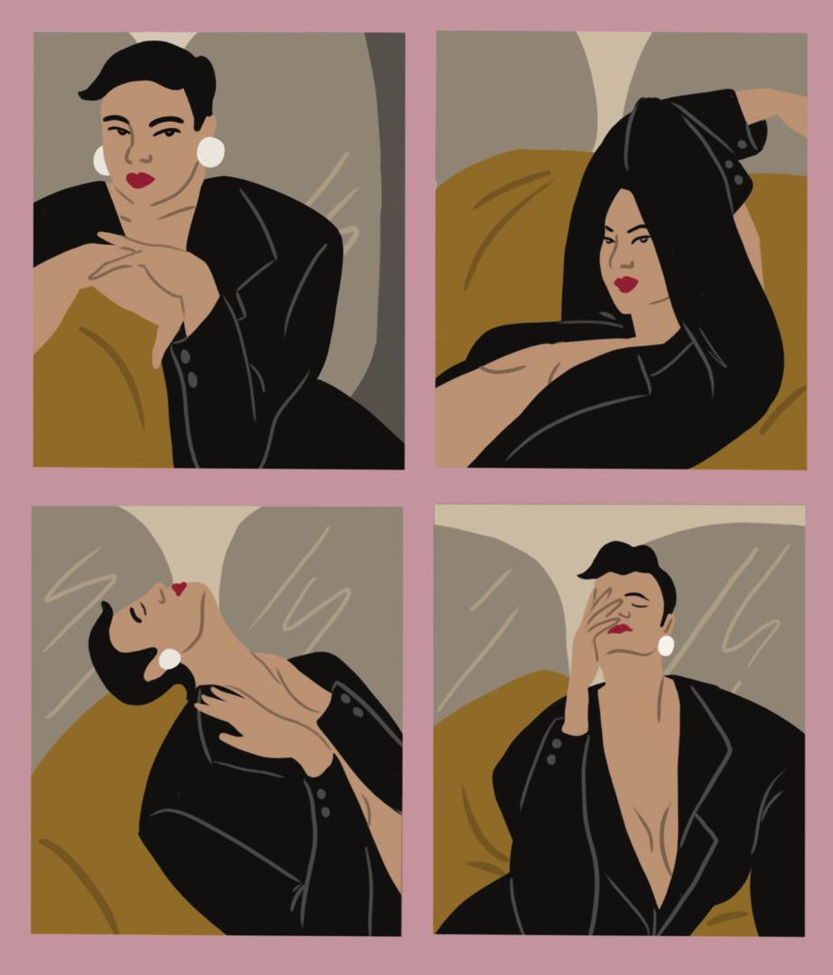 Reserved X British Vogue kollekció rajzok illusztráció Daiana Ruiz