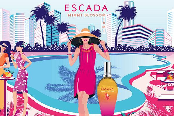 Escada új parfüm 219 nyár Miami blossom