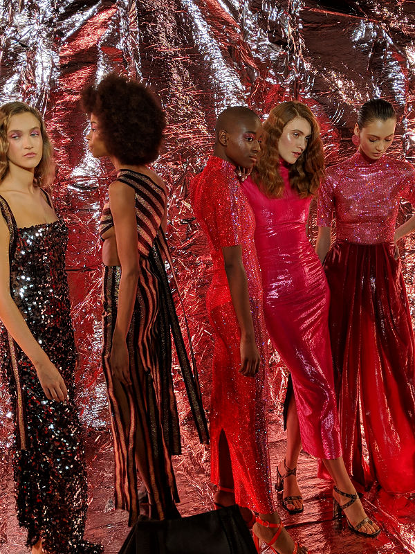 Paula Knorr London Fashion Week AW 19 20 divathét lurex