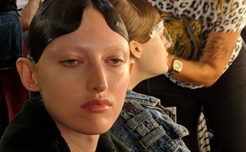 Richard Quinn London fashion Week Mac Cosmetics makeup backstage