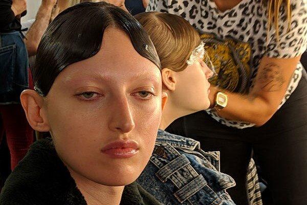 Richard Quinn London fashion Week Mac Cosmetics makeup backstage