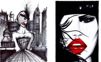 pepe munoz illusztráció divat Céline Dion táncos