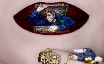 Híres jelenetek ajakra festve - Ryan Kelly sminkmester alkotásai - smink-2, beauty-szepsegapolas -
