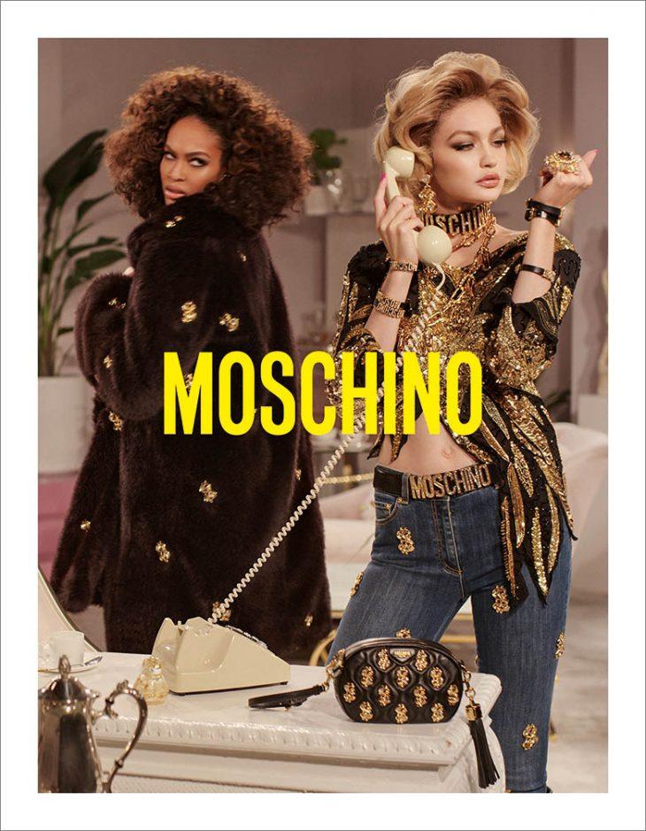 A nyolcvanas évek Dynasty sorozatára hajaz a Moschino kampánya - oszi-es-teli-divat, kampanyok, ujdonsagok -