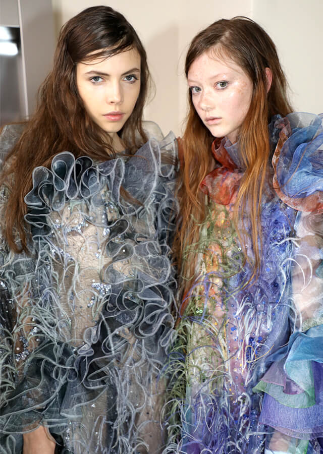 Mary Katrantzou backstagé-ben jártam a MAC Cosmetics-szel - london-fashion-week, fashion-week, backstage -