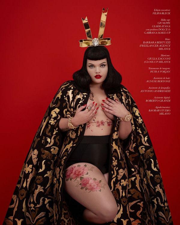 Dolce & Gabbana plus size modellel népszerűsíti új vonalát - ujdonsagok -