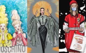 Nemzetközi divatillusztrátor kihívás a karantén idejére - illusztracio, ujdonsagok -