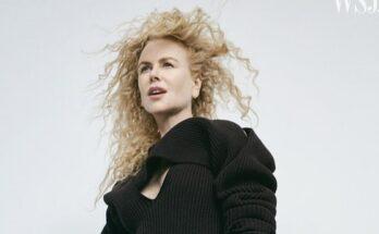 Nicole Kidman furcsa divatanyagban pózol - ujdonsagok -