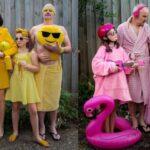 Vicces szivárványszínű családi képeket készített a karanténban az ausztrál fotós