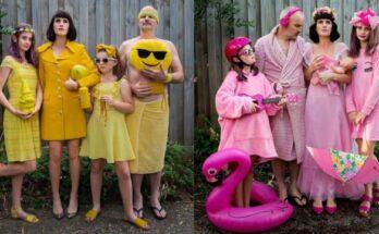 Vicces szivárványszínű családi képeket készített a karanténban az ausztrál fotós - ujdonsagok, design-2 -