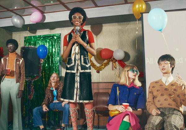Céges karácsonyi bulikat idéz a Gucci ünnepi kampánya - oszi-es-teli-divat, ujdonsagok -